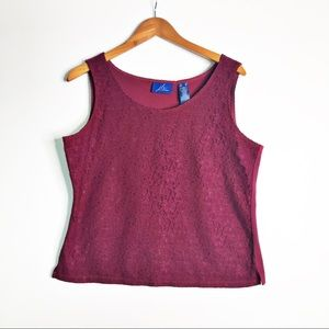 JH COLLECTIBLES Pink Purple Lace Career Tank XL